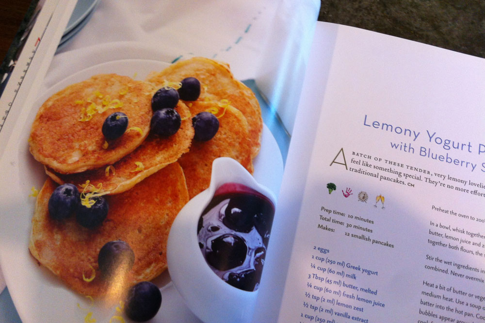 Lemony yogurt pancakes from How to Feed a Family Cookbook