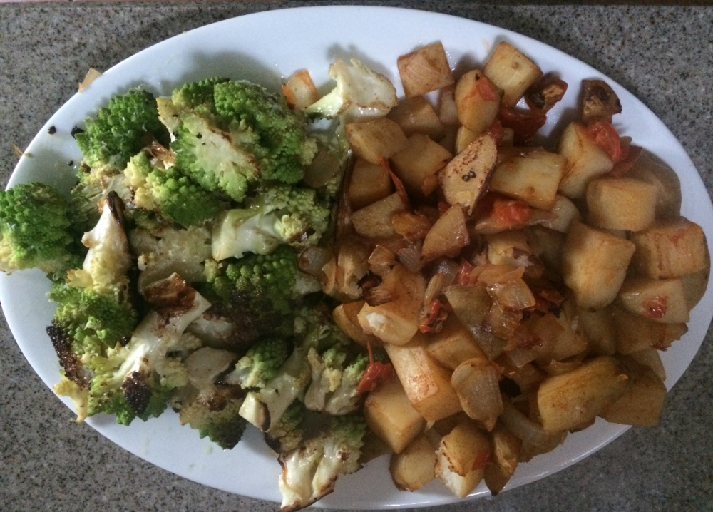Potatoes and broc