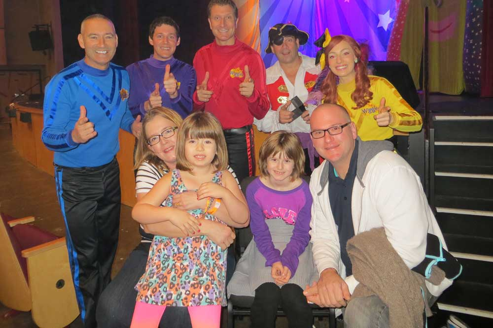 1000 families project danielle and family with the wiggles