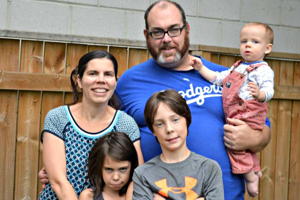 1000 Families Project: Jennifer, Dan, Myles, Melinda & McCallum
