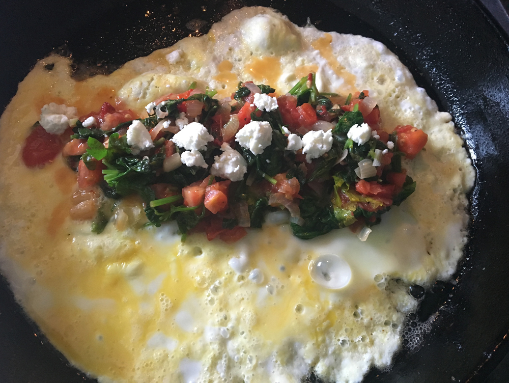 What I learned from a month reducing food waste omelette