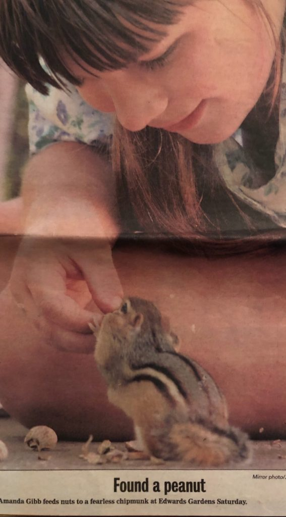 Amanda and chipmunk